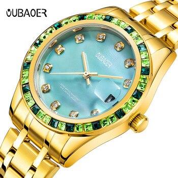 Fashion Women's Bracelet Watches waterproof Rhinestones Case Shell Surface Clock  Stainless Steel Watchband Watch shell surface