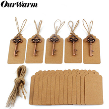 OurWarm Wedding Souvenirs Vintage Bottle Opener 10pcs Openers + Tags with Jute Twines Gift for Guests Party Favor