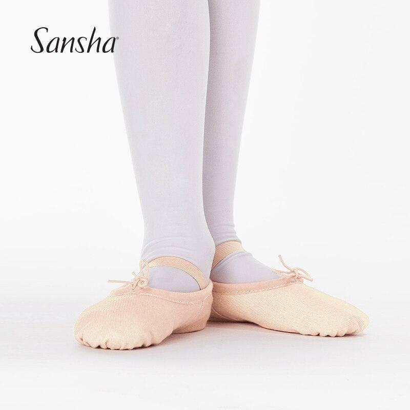 sansha children ballet shoes canvas ballet