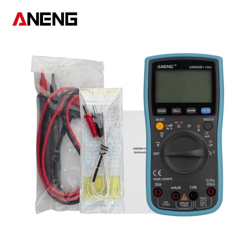 ANENG AN860B+ Digital Clamp Handheld RMS AC/DC Resistance  Meter Multimeter dropshipping