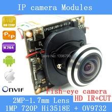 IP camera Module 1.0MP 720P 360 Degree Wide Angle Fisheye Panoramic Camera Infrared Surveillance Camera Security