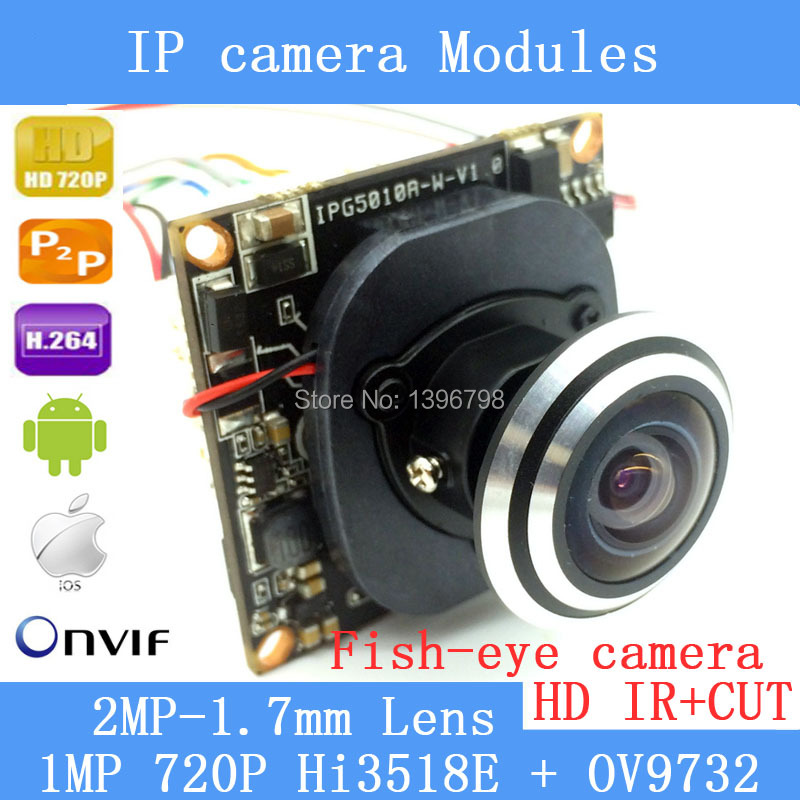 PU`Aimetis IP camera Module 1.0MP 720P 360 Degree Wide Angle Fisheye Panoramic Camera Infrared Surveillance Camera Security автомагнитола swat mex 1006uba
