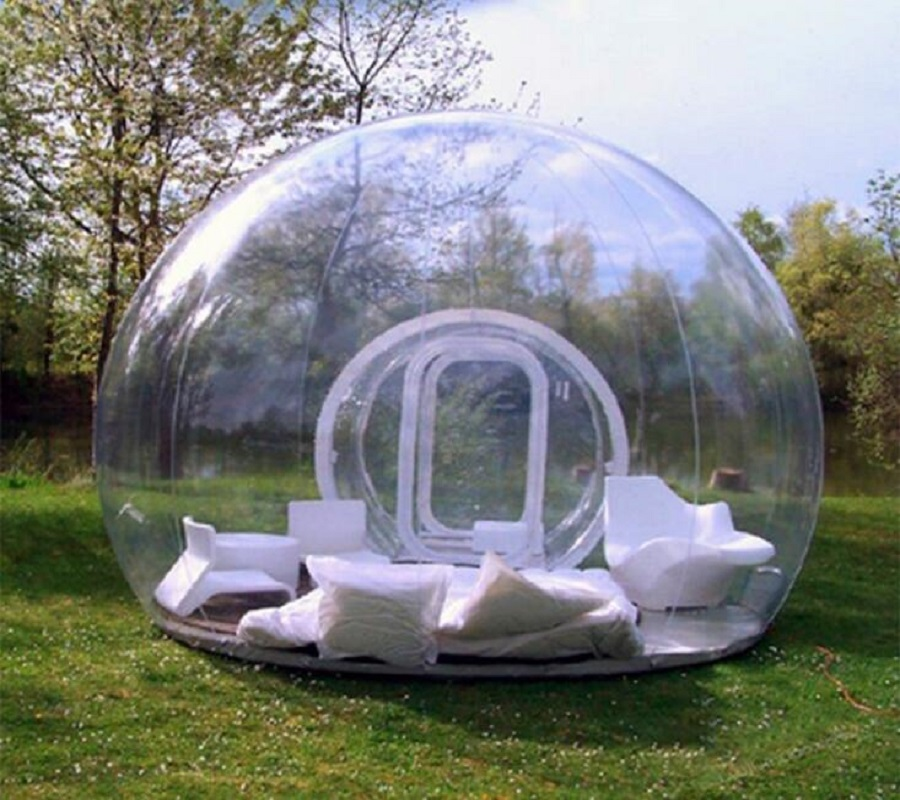Outdoor Single Tunnel Inflatable Bubble Tent Transparent