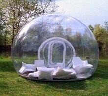 Открытый один туннель прозрачный пузырь надувная палатка надувные прозрачный купол палатки