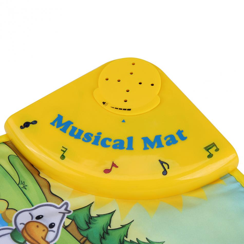 60 * 39CM Baby Music Play Carpet Mat Children Kid Crawling Piano Carpet Educational Musical Toy Kids Touch Paly Game Mats Gift