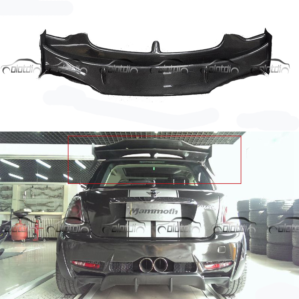 все цены на Car Styling Carbon Fiber AG Style Rear Roof Wing Spoiler Mini Splitter For BMW Mini Cooper S R56 2007-2013 онлайн