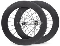 700c width 23mm free shipping carbon clincher 88mm fixed gear wheels 32 holes carbon track bike wheelset for sale