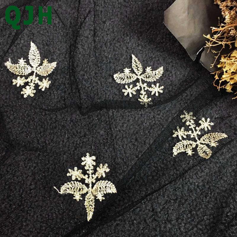 Última tela de encaje bordado de alambre dorado exquisita simetría Bilateral tul francés africano encaje telas vestido y falda Accesorios