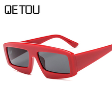 Gafas de sol QETOU Max glasiz a la moda para mujer gafas de sol cuadradas  espejo femenino lente verano estilo Vintage negro marc. b317c4129b1b