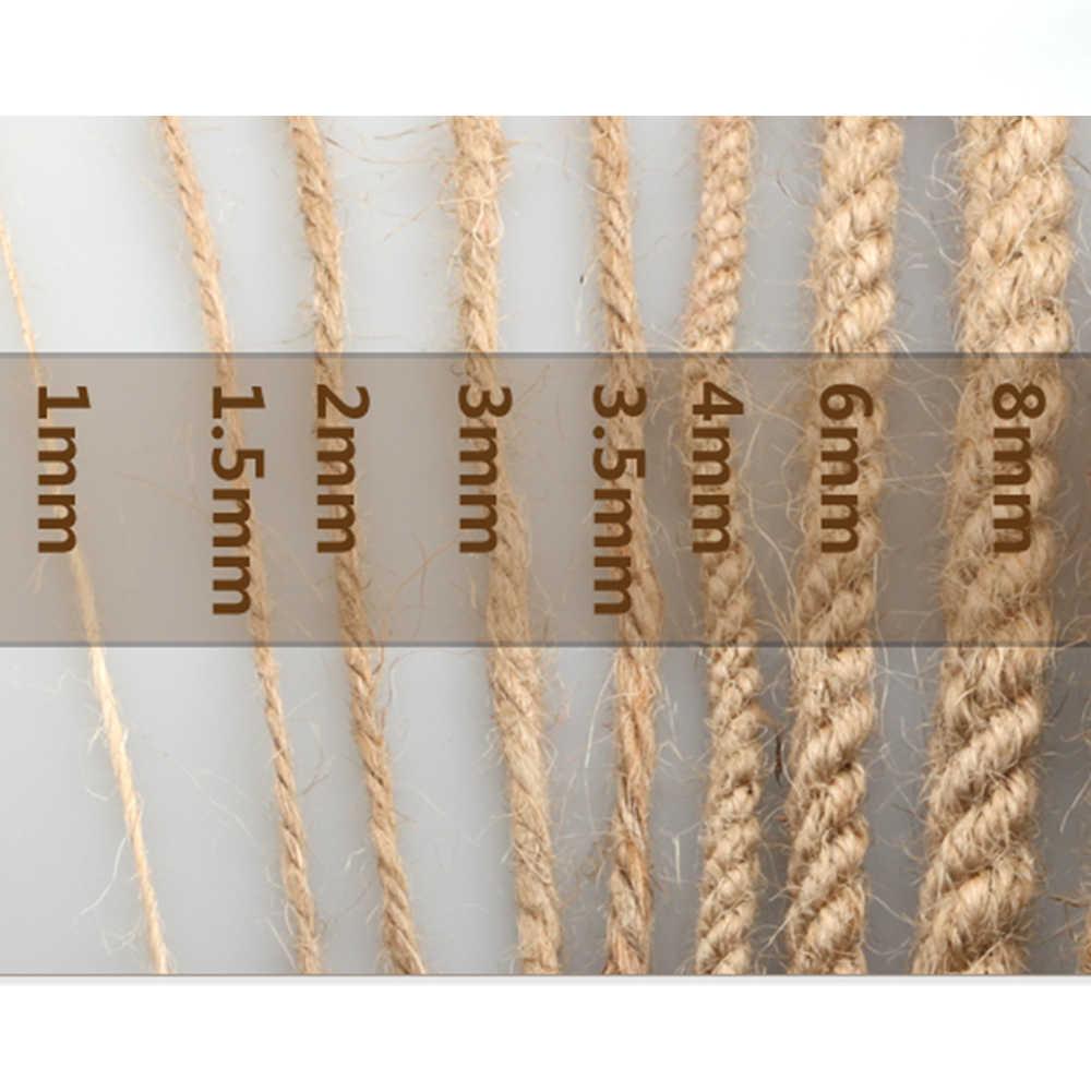 Натуральная Мешковина Hessian джутовый шнур-шпагат пеньковая веревка лист веревка подарочная упаковка струны рождественские вечерние мероприятия поставки ручной работы DIY