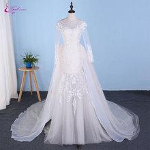 Waulizane Champagne Inner Of Mermaid Wedding Dress 2