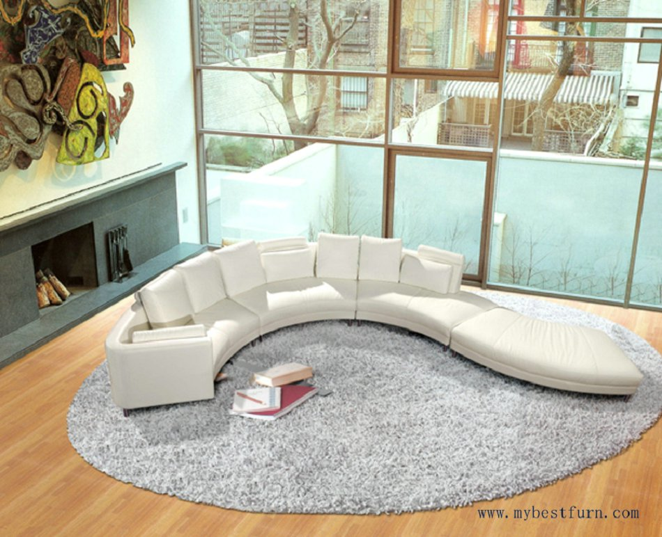 Nice luxury villa sofa set top leaher settee flow water - Living room furniture for sale cheap ...