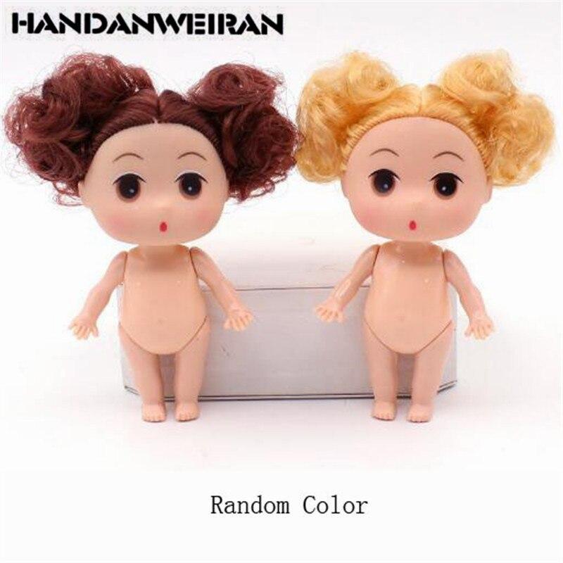 1 X Mini Super Long Blond Hair Doll for ddung Kid Birthday Cake Mold Decor U150