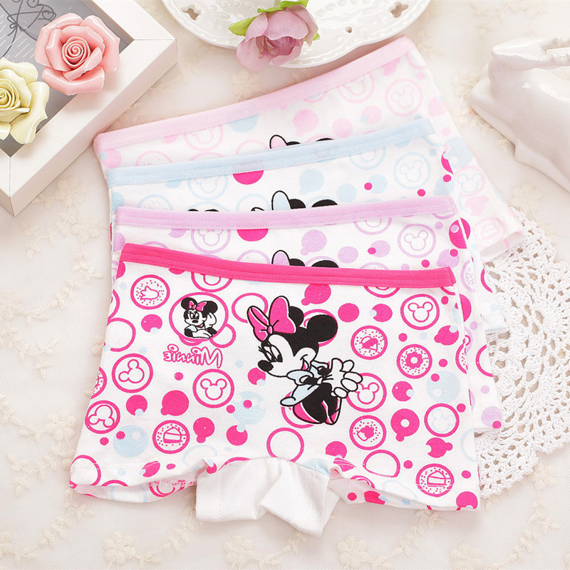Cartoon Underpants 4Pcs/lot Baby Boxer Kids Underwear Cotton Panties Calcinhas Infantis 2-9 Yrs