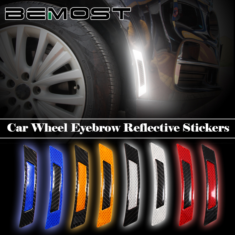 Safety Protective Car Reflective Strip Wheel Bumper Reflector  Warning Stickers