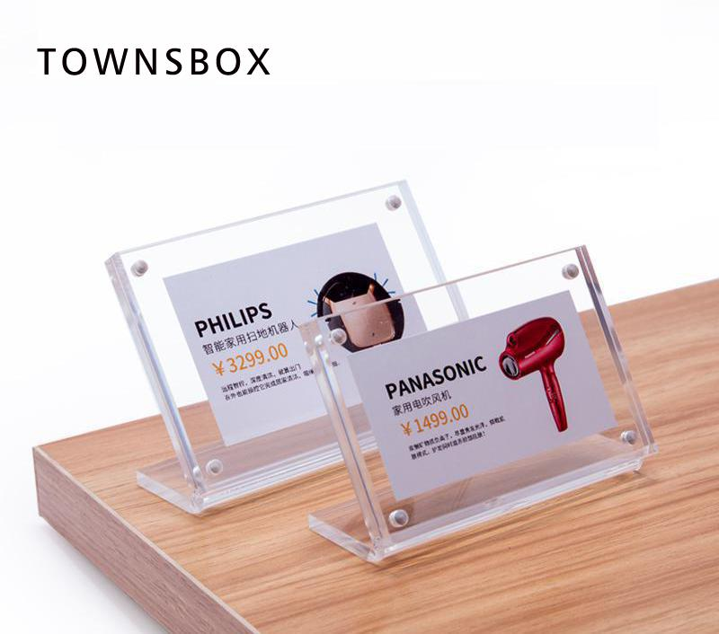 l acrylic photo frame black clear small paper frame desk