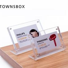 Label-Cover Paper-Frame Tag-Display Sign-Holders Desk-Table Acrylic Small Black Price