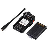 מכשיר הקשר 2pcs Baofeng UV-5R Interphone מכשיר הקשר שני הדרך רדיו FM משדר Dual-band DTMF VOX מעורר LED פנס מפתח נעילה (3)