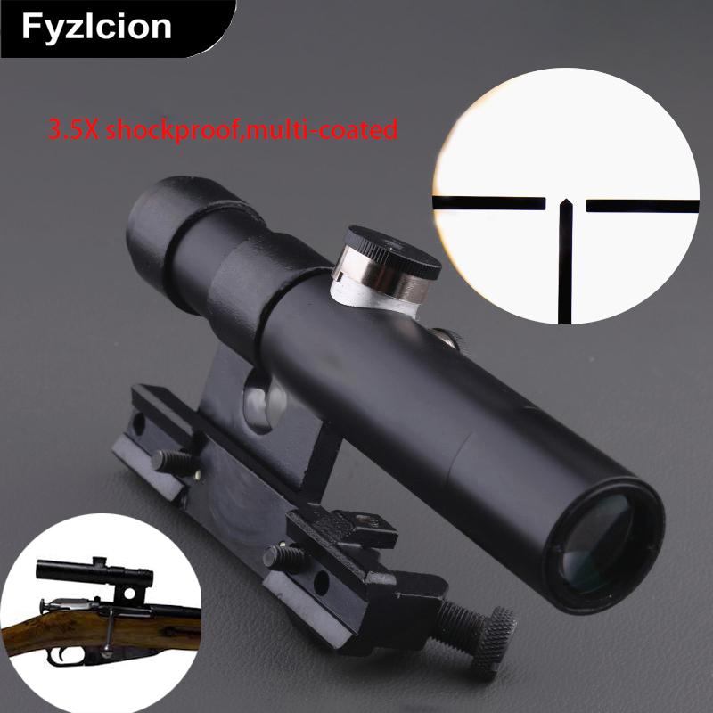 Multlcoated lenses 3.5X Shockproof multi-coated SVT-40 Scope,3.5X Shockproof multi-coated for Mosin Nagant Rifle scope басовый усилитель ampeg svt 3pro