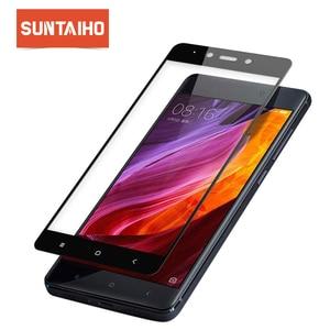 Image 1 - מזג זכוכית עבור Xiaomi RedMi 4 4X 4A 4Pro מסך מגן, suntaiho 2.5D מלא מזג זכוכית סרט לxiaomi הערה 4 4X