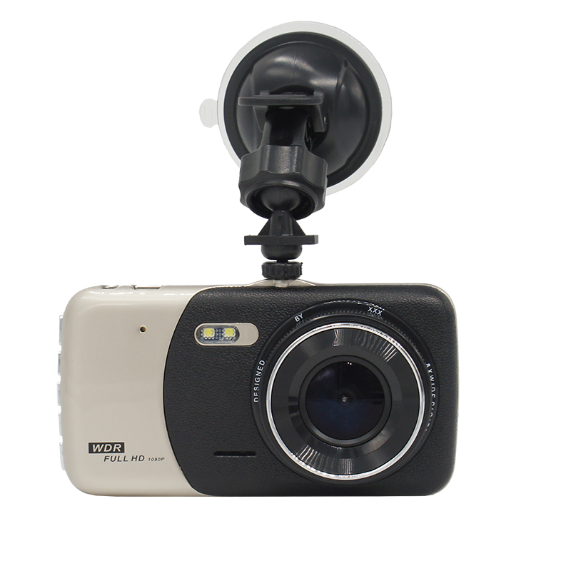 2018 New 4.0 inches Dual lens Car DVR Camera Full HD 1080P Auto Dash Cam Video Recorder With LED Night Vision Rear View Camera