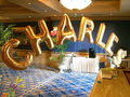 Carta AZ 40 polegada tamanho L folha dourada mylar Balões de hélio para o Aniversário Festa de Casamento Decoração