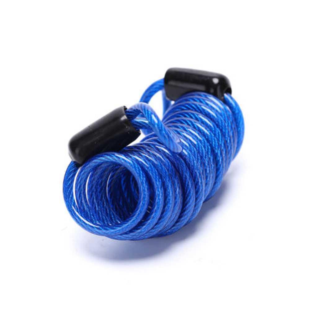 1 Pc 1 M/1.5 M/2.5 M Sepeda Musim Semi Kabel Lock Anti-Theft Tali Alarm Disc kunci Sepeda Keamanan Pengingat Motor Perlindungan Pencurian