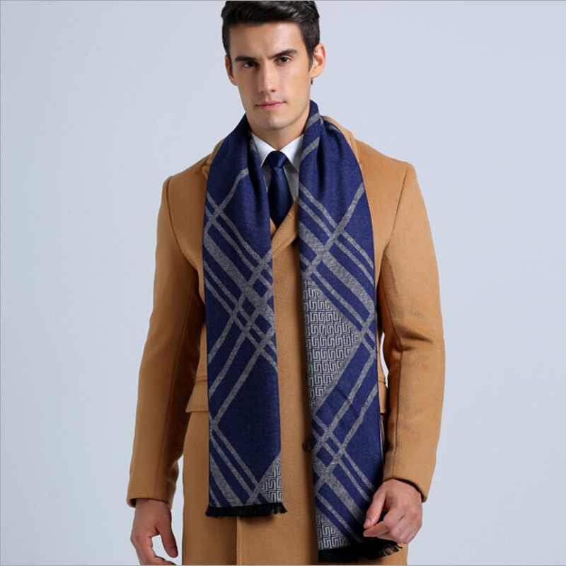 Brand Fashion Winter Mens Cashmere Men Scarf Brown Large ...
