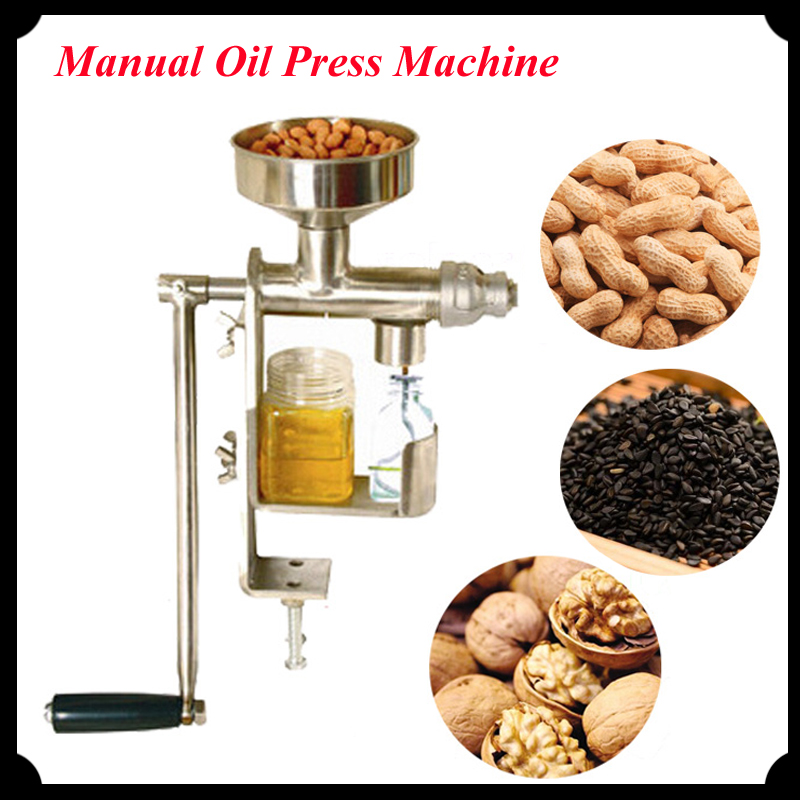 Manual Oil Press Peanut Nuts Seeds Oil Press/ Expeller Oil Extractor Machine HY-03 automatic nut seeds oil expeller cold hot press machine oil extractor dispenser 350w canola oil press machine
