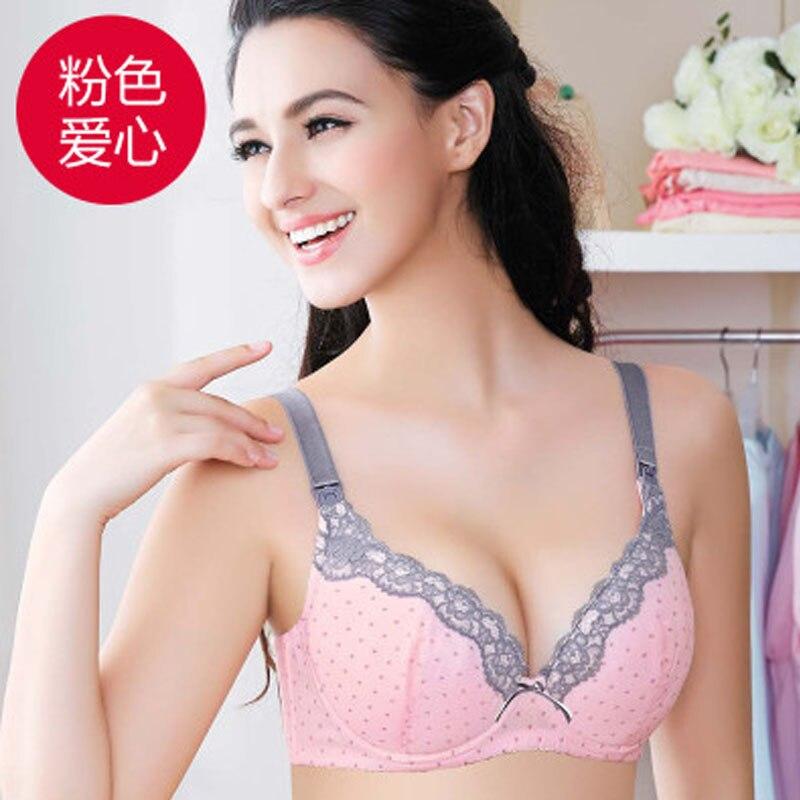 Cotton Maternity Bra Nursing Bra Feeding For Pregnant Women Plus Size B C D E Flower Underwear With Wire Cheap Clothes China