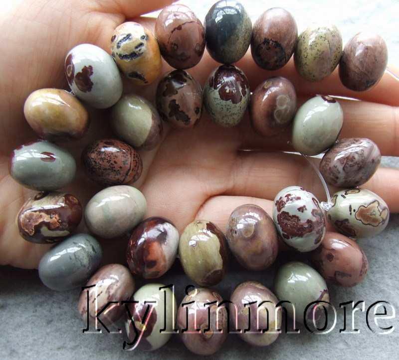 "Natur onyx Kristall 13x18mm 15,5 ""Rondelle perlen"