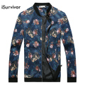 Men Fashion Jackets and Coats 2016 Slim Fits Plus Size 4XL 5XL Skulls Pattern Casual Men Coats Jacquard Good Quality Hot Sale