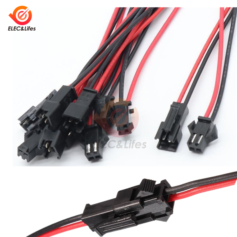 5 Pairs 10CM/15CM/30CM JST SM 2 Pin 3mm Connector Plug Male To Female Connectors Cable Wires for LED Strips Lamp Driver5 Pairs 10CM/15CM/30CM JST SM 2 Pin 3mm Connector Plug Male To Female Connectors Cable Wires for LED Strips Lamp Driver