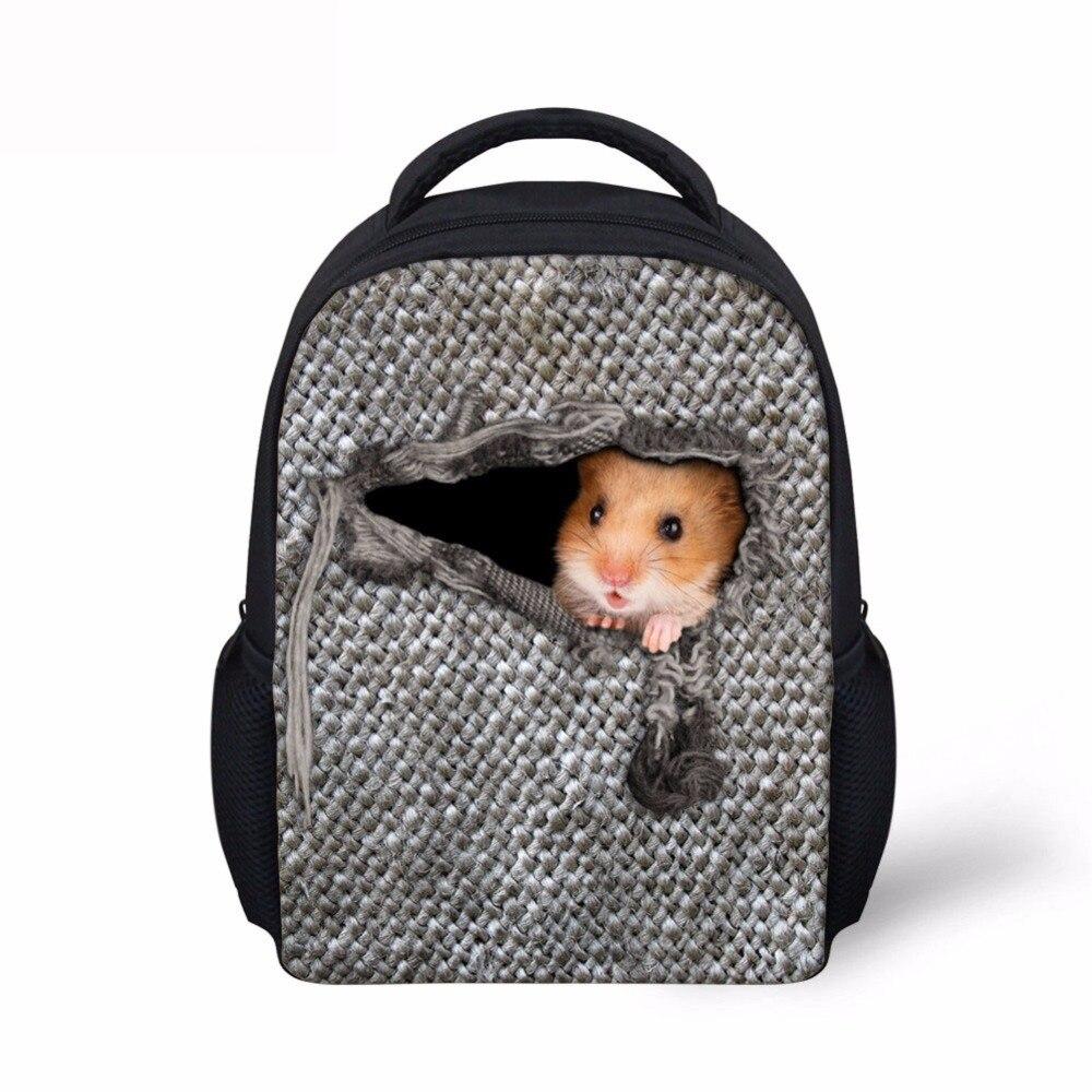 Noisydesigns Cute Children School Bags 3D Cowboy cat Print School Bag for Teenagers Boys Girls Cool Kids Schoolbag Book Bags