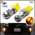 4pcs Amber Yellow High Power CRE'E 7440 992 7440A LED Bulbs for Front Rear Turn Signal Tail lights,Daytime Running DRL Lights