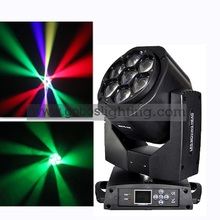 Free Shipping 2PCS of Hot 7x 15W RGBW Zoom Mini Led Bee Eye Moving Head Beam, Graphic, Vortex Effects DMX for Stage Disco Light