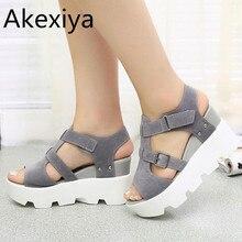 Akexiya sommer sandalen schuhe frauen high heel freizeitschuhe schuhe flip-flops offene spitze plattform gladiator sandalen frauen schuhe