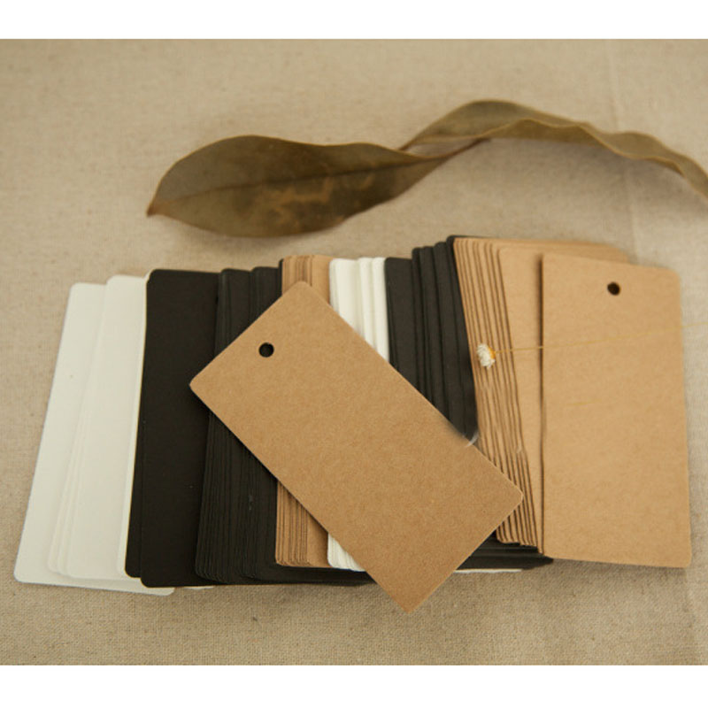 100Pcs DIY Kraft Paper Tags Pointed Head Label Luggage Note Blank price Hang tag Kraft Gift Christmas Wedding Party Decor