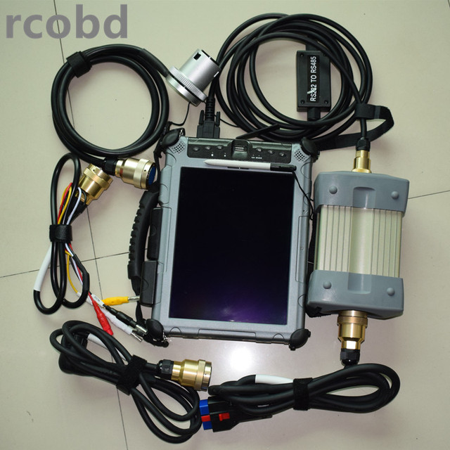 Best Offers star c3 diagnost mb scanner with computer ix104 i7 4g with software supper ssd 128gb all cables full set ready to work
