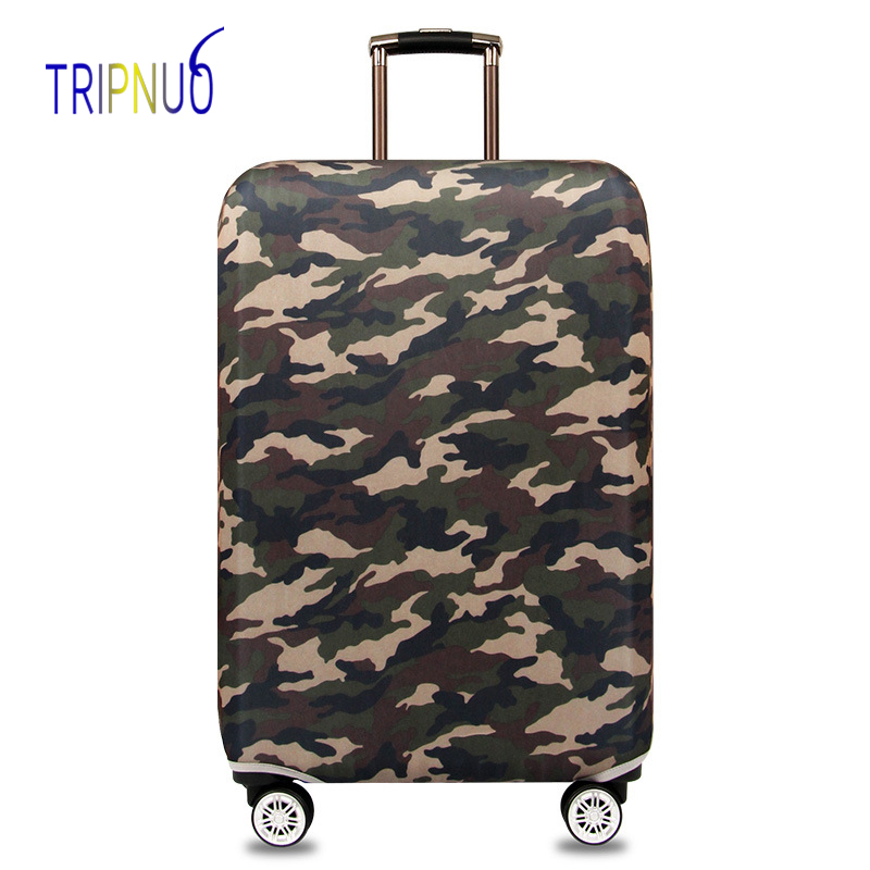 TRIPNUO Thickest Camo Luggage Cover Travel Accessories Elastic Suitcase Protective Cover Apply To 18''-32'' Suitcase