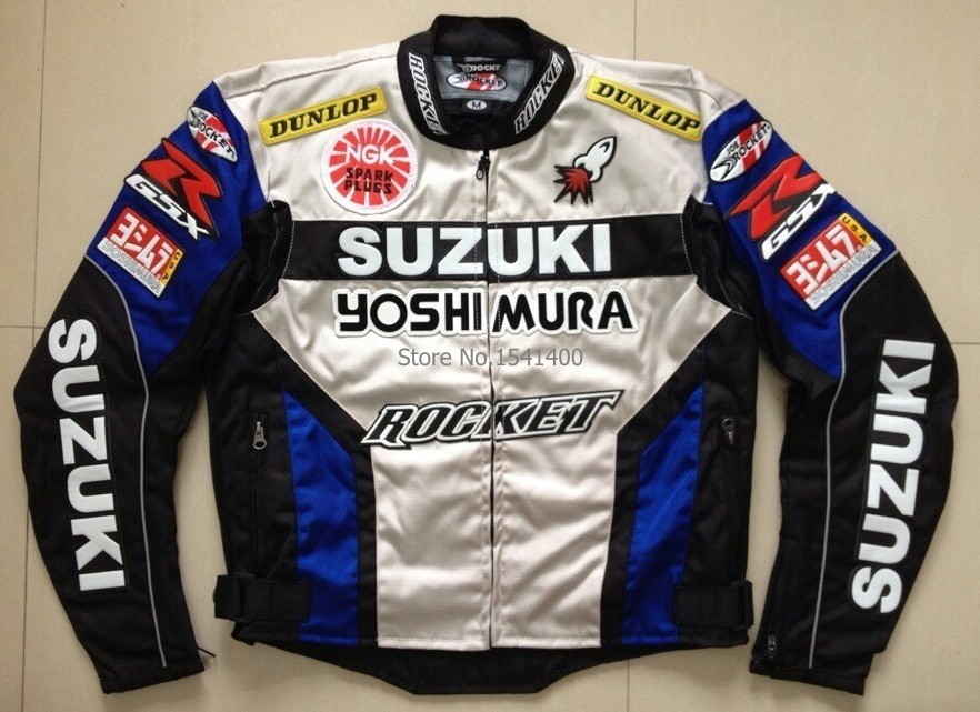 new for suzuki oxford cloth jacket motocross race motorcycle