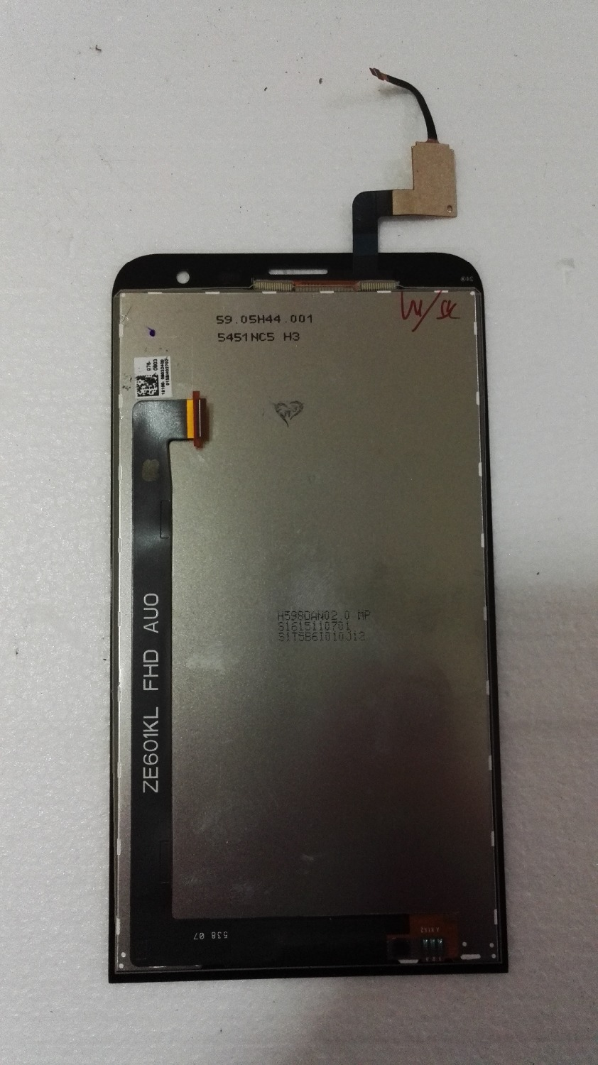 6.0 For ASUS Zenfone 2 Laser ZE601KL LCD Display with Touch glass Screen digitizer Assembly Pantalla free shipping