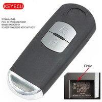 Keyecu Smart Remote Key Fob FSK 315MHz ID49 for Mazda 2 Button Model P/N: 662F SKE13D01 SUV SKE13D 01
