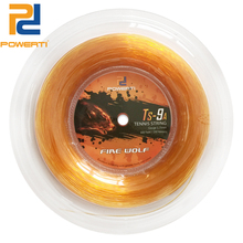 POWERTI 200m Reel Fire Wolf Poly Tennis String 1.25mm Sport Training yang Tahan Lama Round Tennis String TS-9A