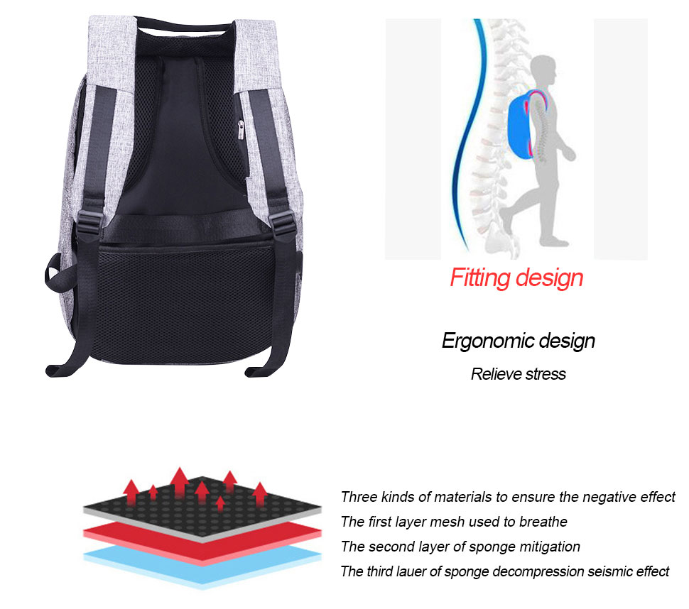 fb49480ec3 Detail Feedback Questions about DANHEN Male Laptop Backpack USB ...