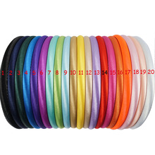 20 Pcs/lot 20 Colors 10mm Baby Girls Solid Satin Cover Headbands For Kids Children Hard Hairband Hair Accessories