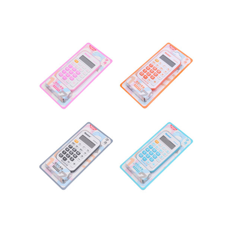 Student Exam Scientific Calculator 2017 New Student Mini Electronic Calculator Candy Color Calculating Office Supplies Gift