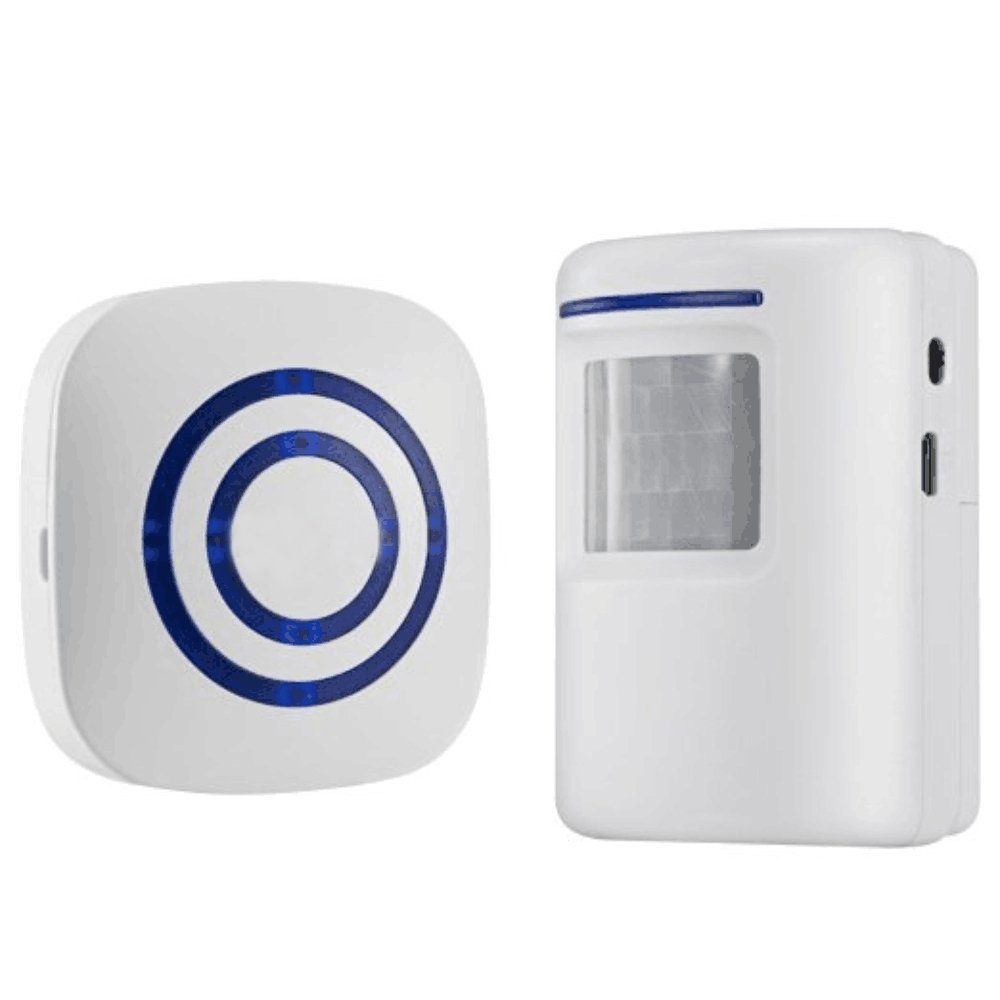 MOOL Home Security Alarm, Wireless Driveway Alert: Infrared Motion Sensor Chime With 1 Receiver And 1 Sensor -38 Chime Tunes -