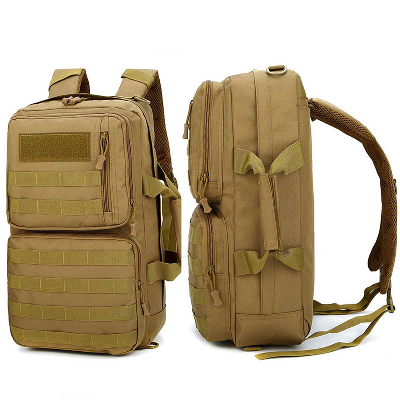 Molle System Camping Hiking Backpacks Travel Bags Military Nylon Tactical Bag Handbags Shoulder Climbing Sac De Sport XA783WD in Climbing Bags from Sports Entertainment