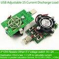 Ajustável 15 tipo USB Atual carga resistor resistência de descarga tester capacidade DC Voltímetro amperímetro tensão de energia eletrônico